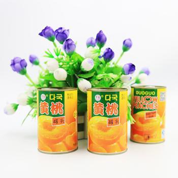 多国韩文黄桃罐头425G*5罐砀山水果罐头