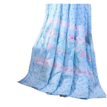 英国雅迪娜家纺磨绒棉印花夏凉被可水洗双人夏被薄芯空调被特价喜莱雅