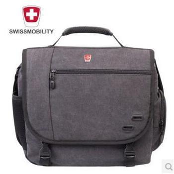瑞士瑞动正品时尚商务休闲单肩包横款方形男女款单肩斜跨包