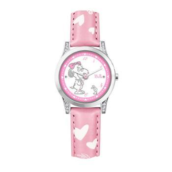 SNOOPY史努比儿童手表贝尔系列女孩防水皮带可爱镶钻石英表BEW019三色可选