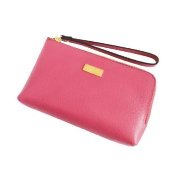 NINORIVA尼诺里拉桃红色牛皮革女士手挽零钱包NR60339-3