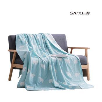 三利休闲时光纱布毛巾被两条特惠装50611-2