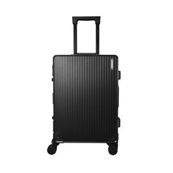 尼诺里拉 黑色成型铝镁合金旅行箱拉杆行李NRB-18011-20寸