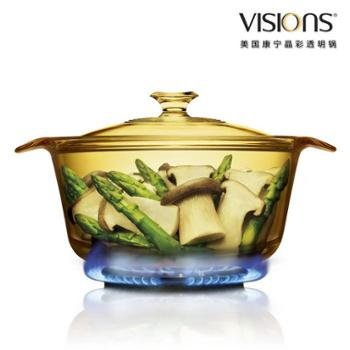 VISIONS美国康宁晶彩透明锅(1.6L煮锅)VS-16-FL