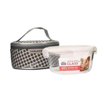 LOCK&LOCK耐热玻璃保鲜盒提袋组合LLG904FU