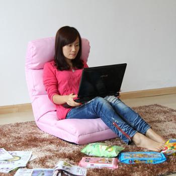 【衢州单品汇】美亿佳 时尚懒人沙发布艺沙发单人沙发SF-0202 粉色 【支持衢州地区上门自提】