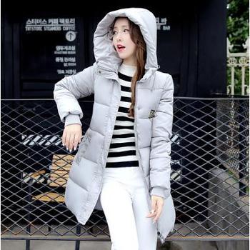 2016冬季新款韩版棉服女中长款修身棉袄加厚大码棉衣女装学生外套