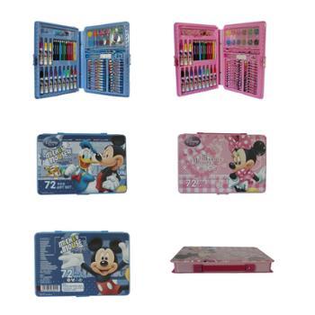 迪士尼小学生儿童彩笔男女蜡笔绘画套装文具套装礼盒/礼品/礼物72色美劳派