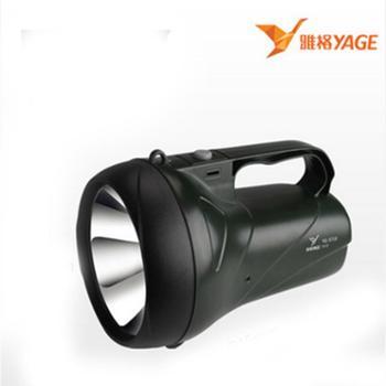 雅格专场led手电筒强光充电远程探照灯户外照明手提灯手电筒YG-5710