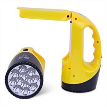 雅格 LED探照灯手电筒强光充电远射手提灯户外照明手电筒YG-3337