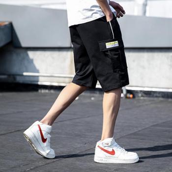 依采奴 男士运动弹力夏季薄款休闲短裤