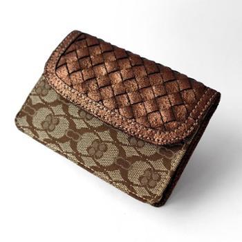 缇香特价金属爆裂纹编织卡包名片夹大容量卡包