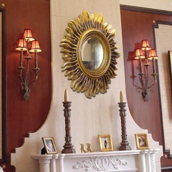 欧式家居壁饰创意玄关卫生间大镜子挂件客厅壁挂装饰