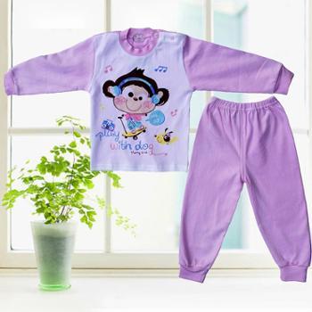 奉生儿童精梳纯棉内衣套装宝宝秋衣秋裤肩开扣0-4岁