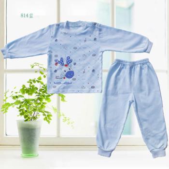 奉生宝宝纯棉内衣套装1-4岁肩扣