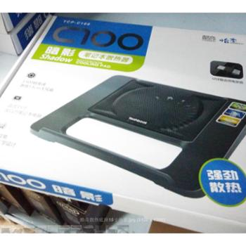 Cooskin 酷奇 C100 暗影 笔记本散热器 时尚黑