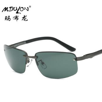 玛布龙 金属方框墨镜 运动户外防紫外线 偏光太阳镜 男士偏光墨镜 8606