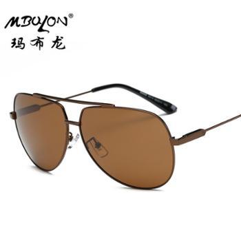 玛布龙偏光镜男款偏光太阳眼镜钓鱼眼镜金属框太阳镜8614