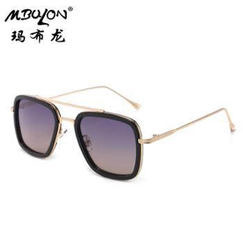 玛布龙女士金属太阳眼镜个性圆框时尚百搭遮阳墨镜3241