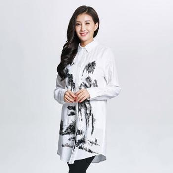 戎立特中国风长款衬衫EW6211