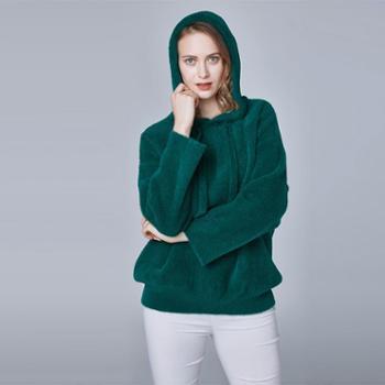 戎立特新款女士时尚貂绒帽衫FW8091-94
