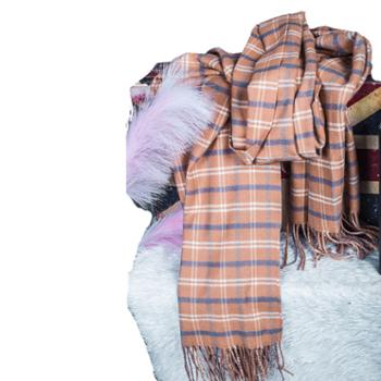 戎立特女士羊绒田字格围巾披肩GWJ307