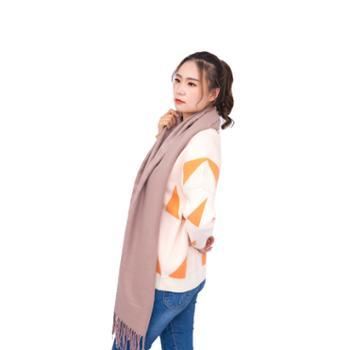 戎立特女士羊绒格围巾披肩GWJ310