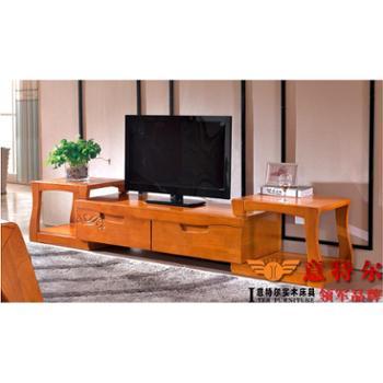 意特尔进口橡木现代中式电视柜实木地柜客厅茶水柜装饰储物柜特价
