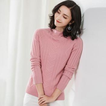 锦昂2017女士半高领羊绒衫RC1730