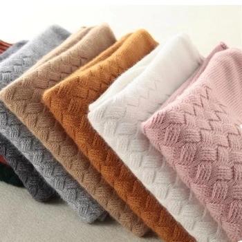 锦昂羊绒衫女半高领加厚套头毛衣韩版修身纯色秋冬新款针织打底衫WY007