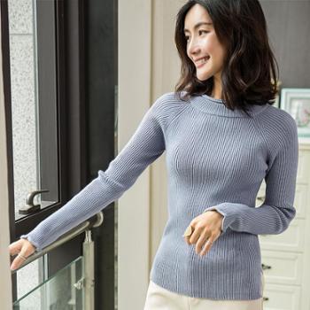 女士双领包芯纱针织衫YYY1828
