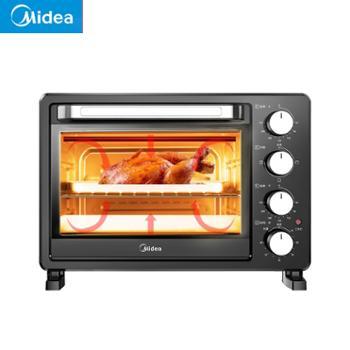 美的(Midea)25升大容量烤箱家用烘焙迷你小型电烤箱多功能全自动蛋糕PT2500