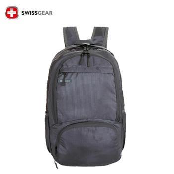 瑞士军刀swissgear户外多功能皮肤包/双肩折叠背包/登山包/旅行背包(灰色)SA-7318