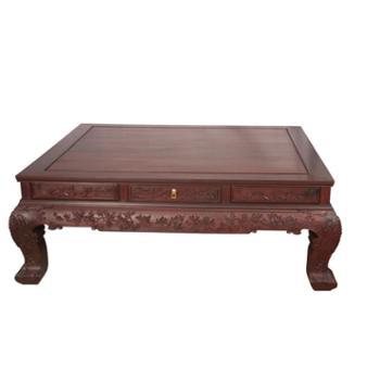 家聚福 明清古典红木家具 老挝大红酸枝红木沙发 纯实木精雕