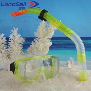 浪胜正品专业防雾防水套装成人浮潜三宝全干式呼吸管+潜水面镜游泳镜