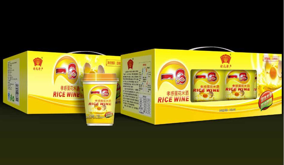 一品食品 孝感米酒 固體即沖即飲 蛋花杯裝方便型米酒
