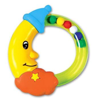 亲亲我安全玩具不含BPA宝宝益智玩具婴儿摇铃玩具月亮手摇铃