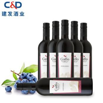 【5月厦门数码购】美国嘉露家族庄园仙粉黛红葡萄酒红酒750ml*6瓶建发酒业