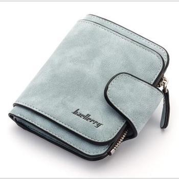 新款女士钱包韩版搭扣磨砂皮零钱包可爱小清新学生钱包