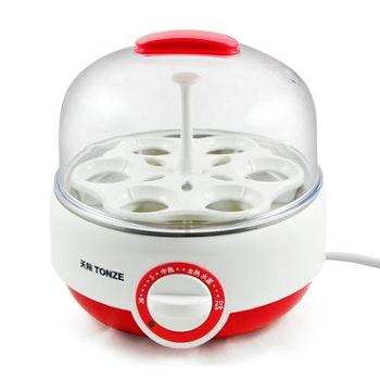 Tonze/天际DZG-W406F煮蛋器蒸蛋器可定时特有响铃提醒陶瓷蒸碗