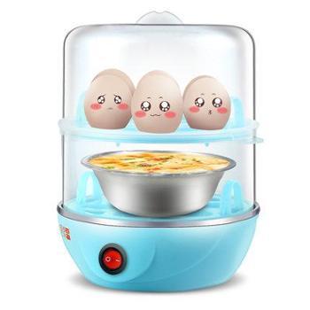 启福蒸蛋器双层自动断电正品大容量小型煮蛋器迷你早餐机4-6枚