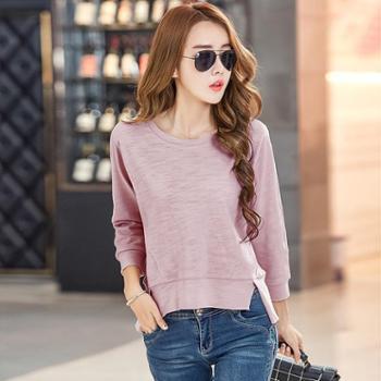 2017秋季女装新款韩版宽松长袖T恤大码女士t恤