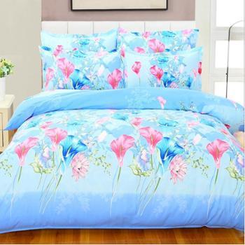 【新款包邮】床上四件套磨毛 加厚印花植物羊绒床上用品床单被套 家纺套件
