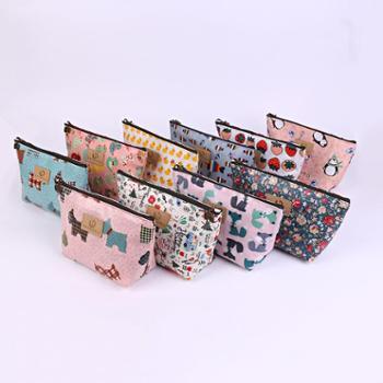 韩版新款印花化妆包洗漱包卡通防水化妆品收纳包手拿包