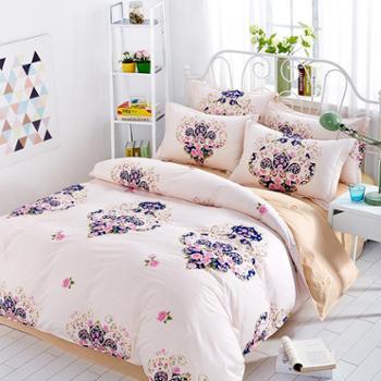 纯棉四件套 全棉礼品斜纹印花 床上用品