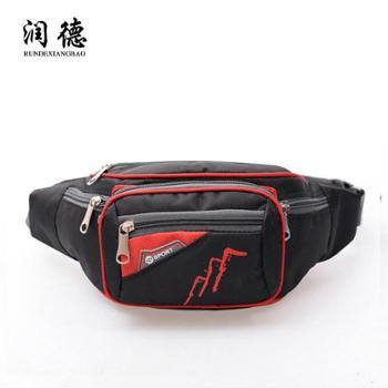 时尚尼龙运动腰包便携男士女通用户外小腰包