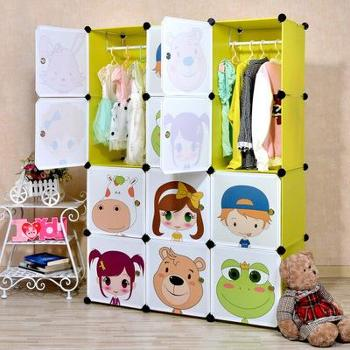 (生活用品)Binyalive简易组合收纳柜新奇特收纳用品塑料儿童收纳衣柜