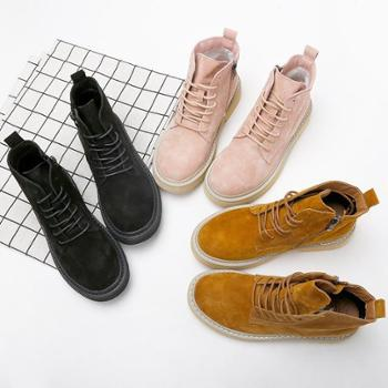 (马丁靴)2018新款马丁靴女英伦风chic学生厚底韩版秋冬季百搭机车复古短靴