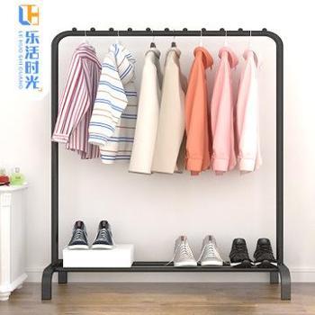 单杆式晾衣架落地衣架晒衣架简易晾衣杆折叠室内阳台衣服架挂衣架