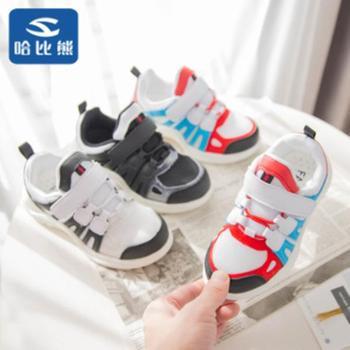 哈比熊童鞋2019春秋新款运动鞋男童网面老爹鞋儿童网红休闲鞋